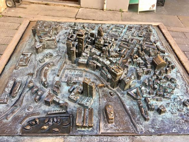 Savona és a kikötő térképe