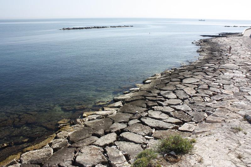 tengerpart Bari mellett Bisceglie strand