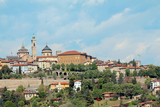 Bergamo világörökség - a várfal